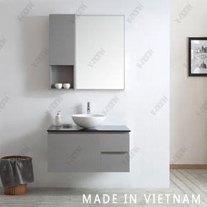 36 Inch Small Size Single Sink Solid Wood Cabinet Bathroom Vanity Grey Bathroom Cabinet